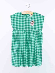 Dulcie Dress - Green Check from Wander & Wonder