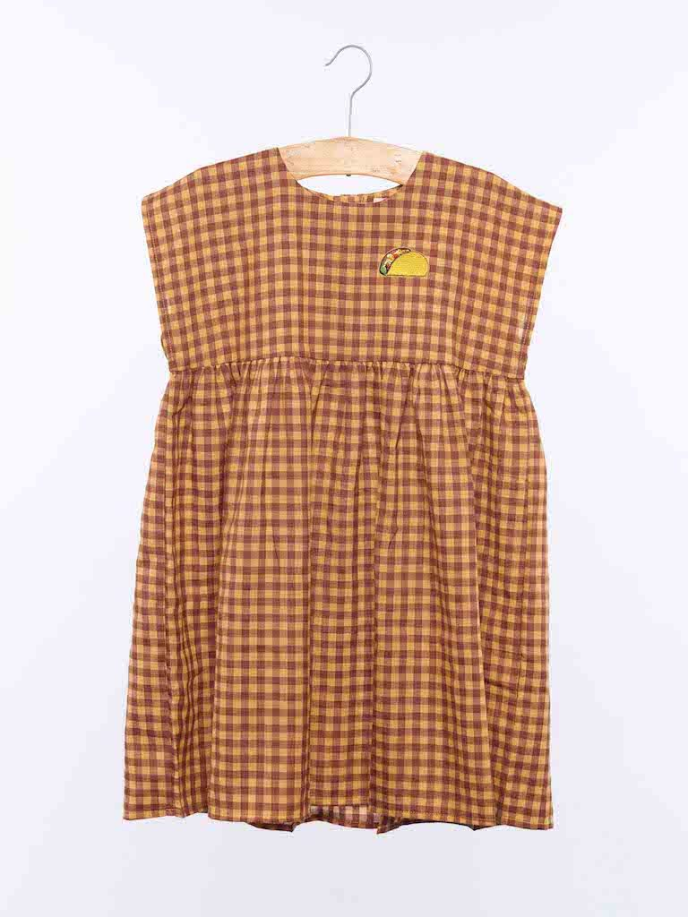 Dulcie Dress - Yellow Check from Wander and Wonder