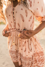 Load image into Gallery viewer, BoMa Tribal Playdress- Brown/Orange | Bohemian Mama - Women's Clothing
