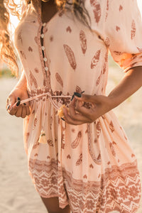 BoMa Tribal Playdress- Brown/Orange | Bohemian Mama - Women's Clothing