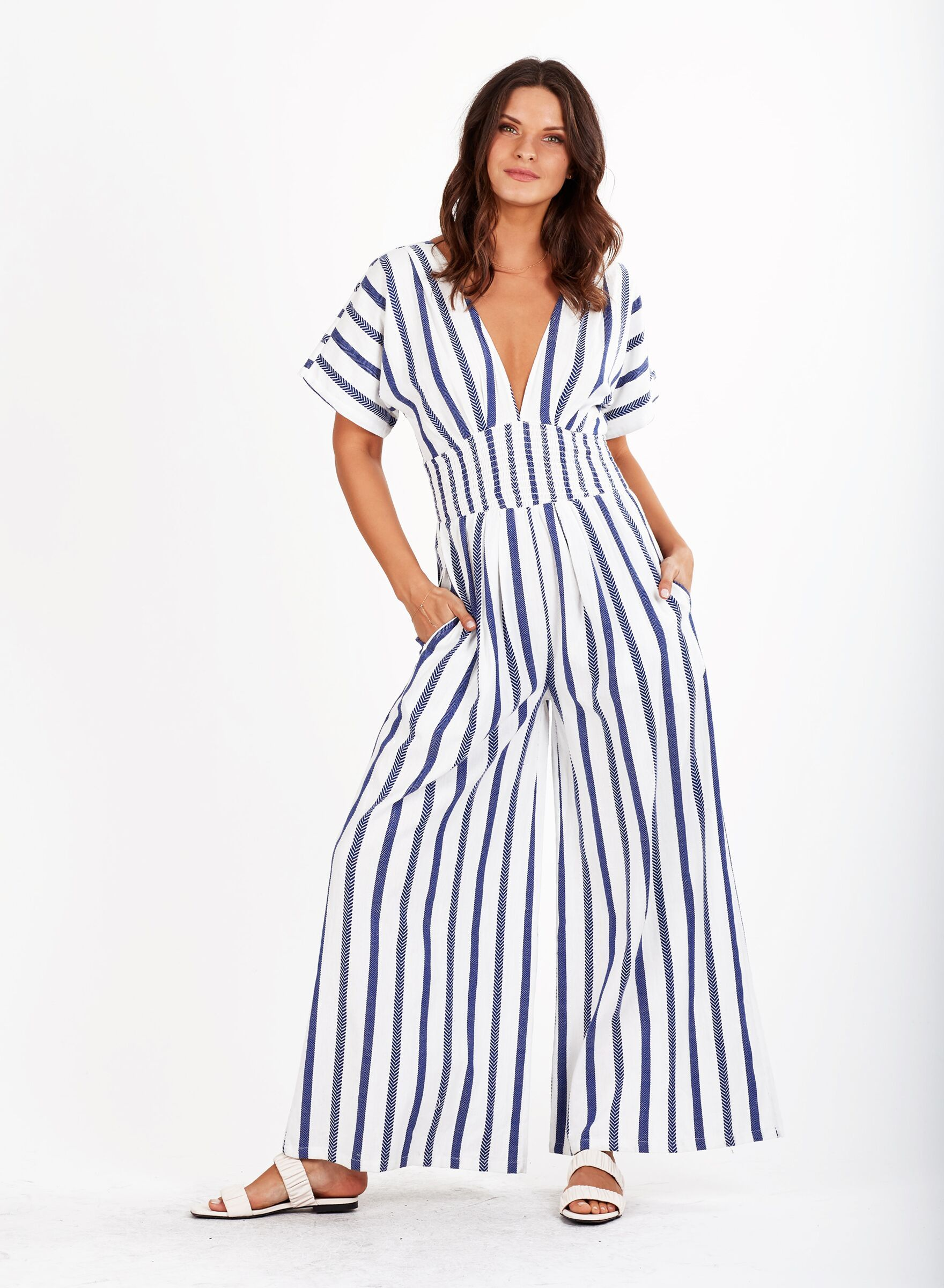 Load image into Gallery viewer, Alicia Jumpsuit Stripe Cleobella