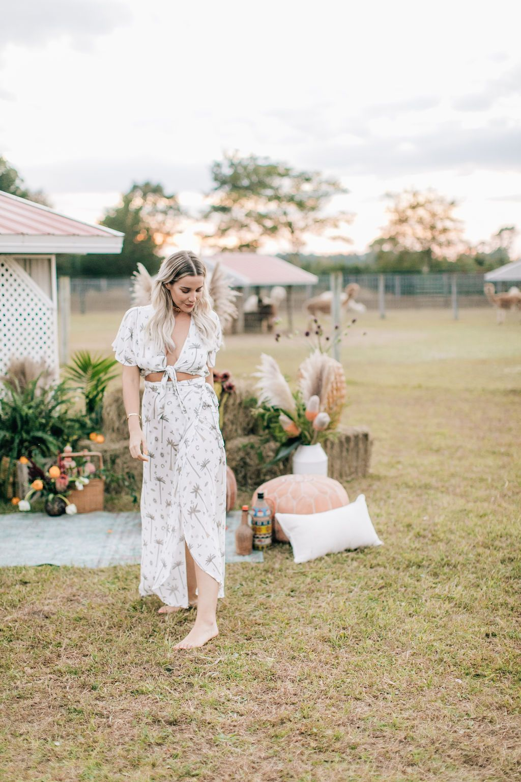 Load image into Gallery viewer, All Wrapped Up Maxi in Royal Palm Coconut by Bohemian Mama The Label