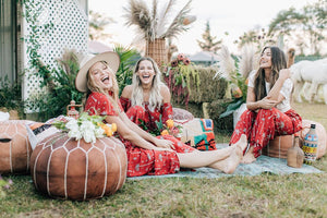 All Wrapped Up Maxi in Royal Palm Marooned by Bohemian Mama | Dresses