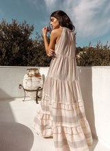 Load image into Gallery viewer, Arizona Metallic Blush Scarf Maxi Dress by Saylor | Dresses