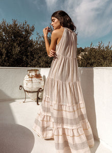 Arizona Metallic Blush Scarf Maxi Dress by Saylor | Dresses