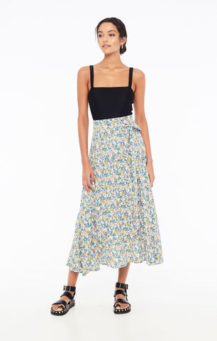 Asiya Skirt in Vionett Floral Print by Faithfull The Brand