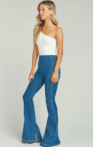 Austin Pull On Flare - Bayou Blue