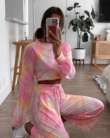 Hailey Pant - Sunrise Tie Dye