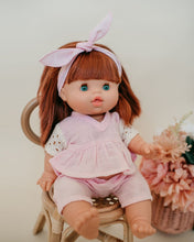 Load image into Gallery viewer, Dollie Headband + V-Neck Top + Pant - Pink Sand | Bohemian Mama Littles - Dollie Clothing