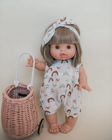 Dollie Romper + Headband Set - Over the Rainbow