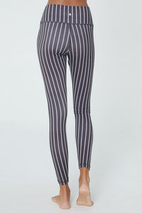 Pinstripe High Waist Leggings by Spiritual Gangster | Leggings for Women