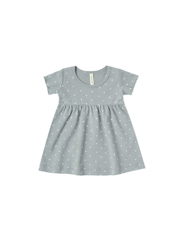 Short Sleeve Baby Dress - Ocean