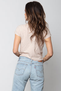 Baby Tee in Stone by Stillwater | Womens Tops