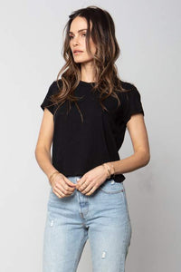 Baby Tee in Black by Stillwater