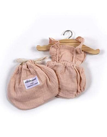 MiniKane Little Doll Retro Lou Ruffle Romper - Soft Pink
