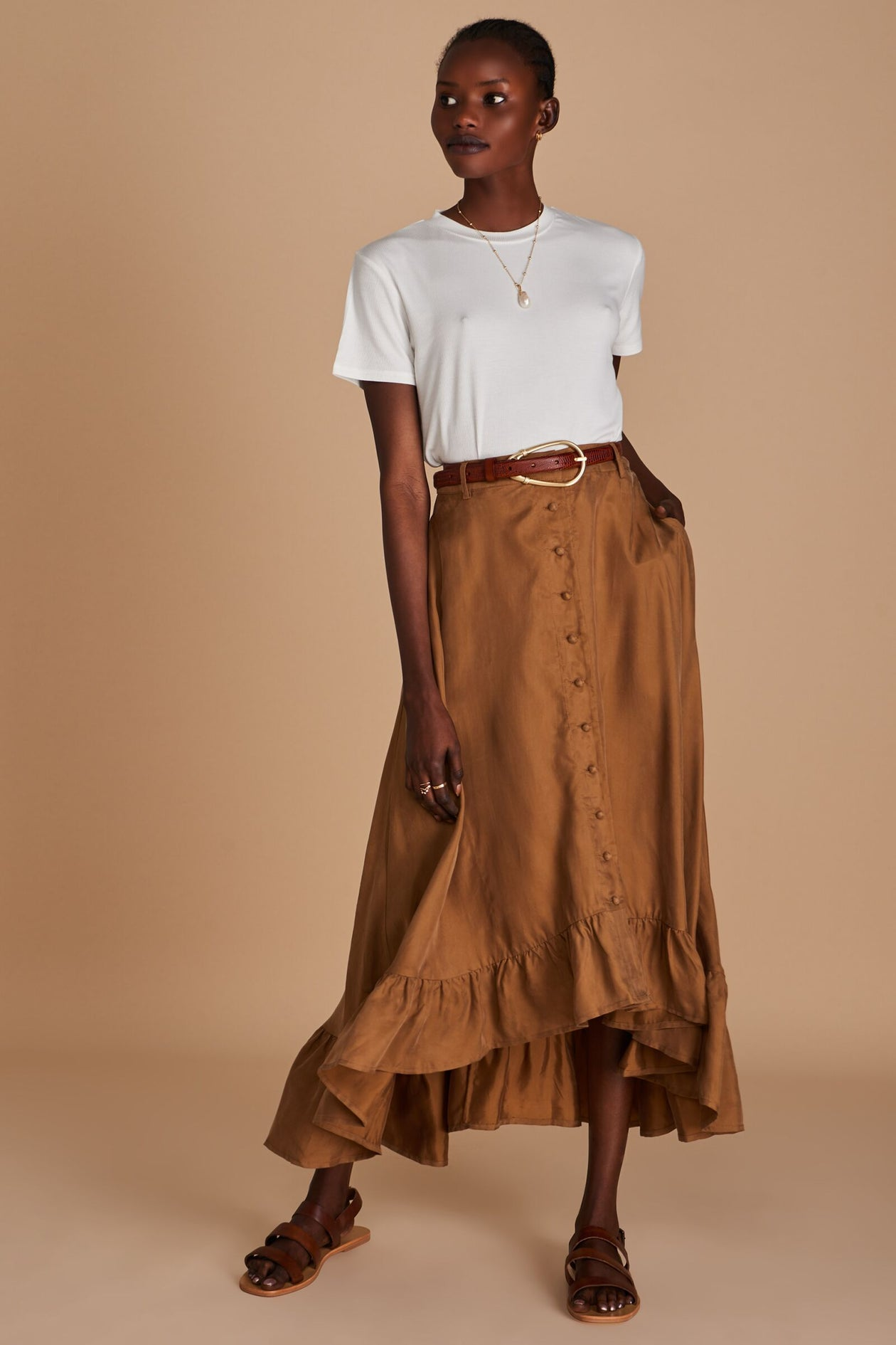 Sancia Basia Skirt in Cocoa | Womens