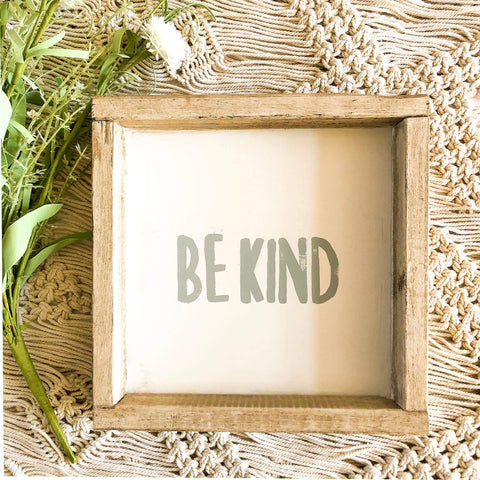 Be Kind Wall Art (Light Blue)