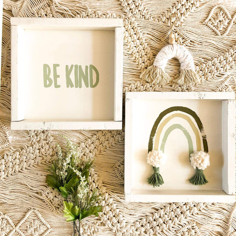 Be Kind Wall Art (Jade)