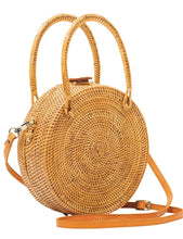 Load image into Gallery viewer, Beach Gold Bali Patti Handbag in Rattan | Womens Rattan Handbags
