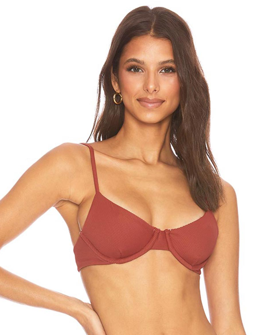 Load image into Gallery viewer, Beach Riot Camilla Top Rust | Womens Bikini Tops Red
