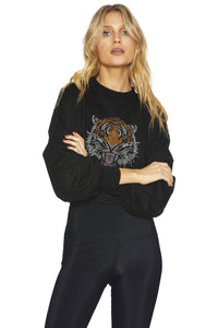 Beach Riot Tiger Sweater Black  | Tops