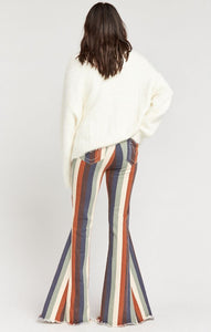 Show Me Your Mumu Berkeley Zip Up Bells Retro Stripe Pants