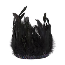 Load image into Gallery viewer, Black Feather Crown | Meri Meri Kids Costume -  Halloween Creepy Couture