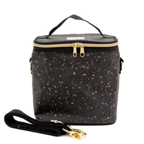 Black Paper- Gold Splatter Lunch Poche for Adults