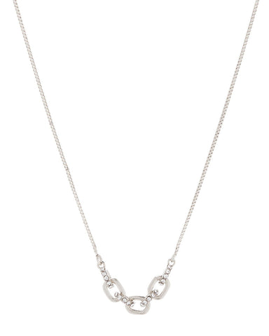Blair Chain Charm Necklace - Silver