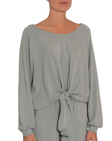 Blair Knotted Pullover - Willow Green