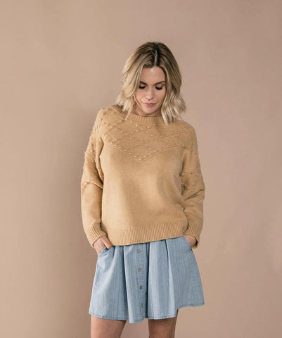 Bobble Sweater - Honey