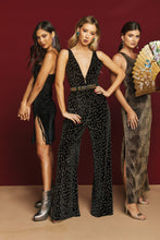 Load image into Gallery viewer, Leona Jumpsuit-Glitter Cheetah Velvet by Show Me Your Mumu