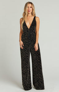 Leona Jumpsuit-Glitter Cheetah Velvet by Show Me Your Mumu