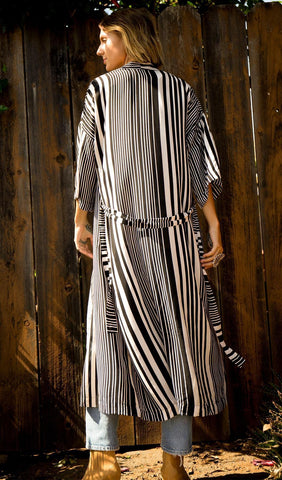 The Jane Robe - Black Stripe