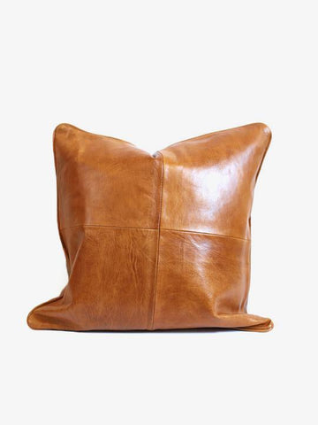 Moroccan Leather Pillow, Harlow