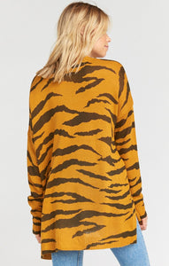Show Me Your Mumu Bonfire Sweater Great Tiger Knit Animal Print Clothing