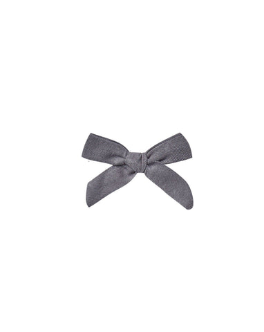 Bow With Clip - Washed Indigo