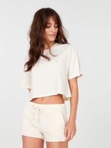 Boxy Crop in Bone by MATE The Label
