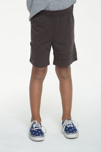 Chaser Kids Cotton Jersey Shorts with Strappings Vintage Black
