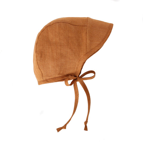 Briar Baby Brimmed Bonnet - Rust