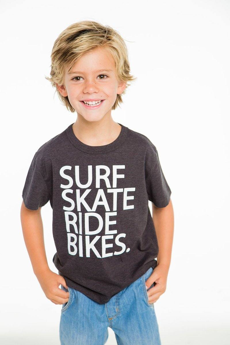 Load image into Gallery viewer, Surf Skate Bike T-Shirt by Chaser Kids