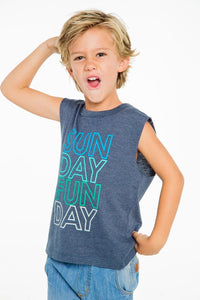 Sunday Funday Tank Top by Chaser Kids