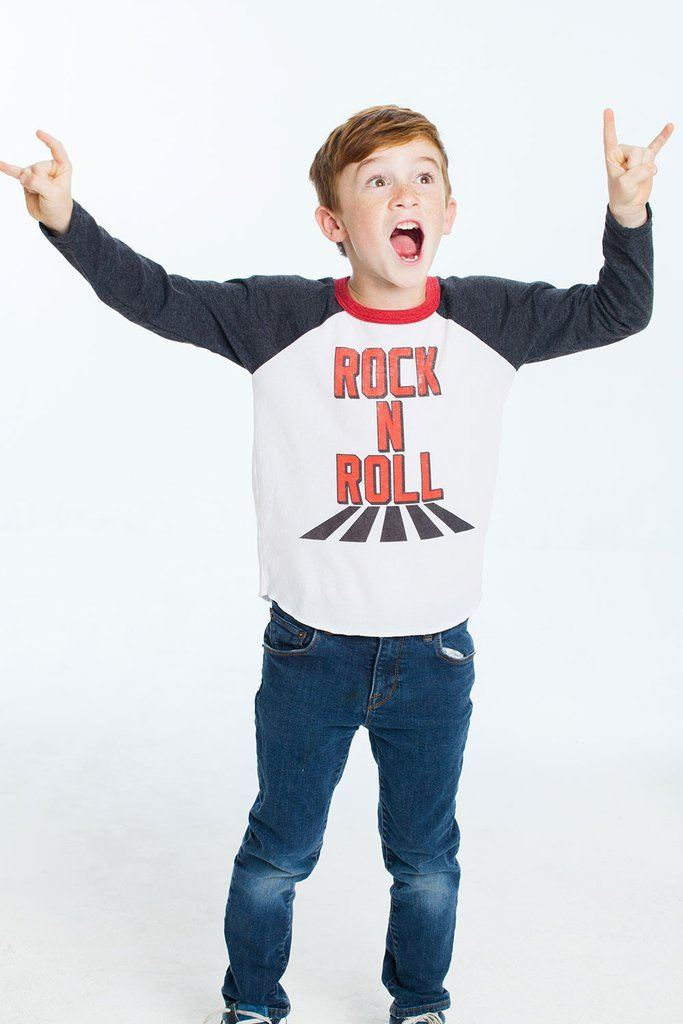 Rock Long Sleeve Raglan Tee - Bohemian Mama