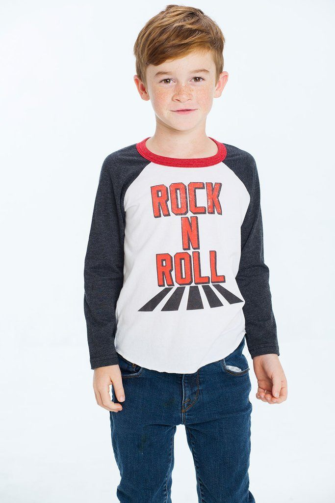 Rock Long Sleeve Raglan Tee by Chaser Kids