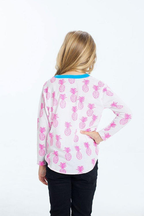 Pink Pineapples Vintage Jersey Long Sleeve