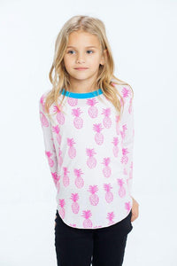 Pink Pineapples Vintage Jersey Long Sleeve by Chaser Kids