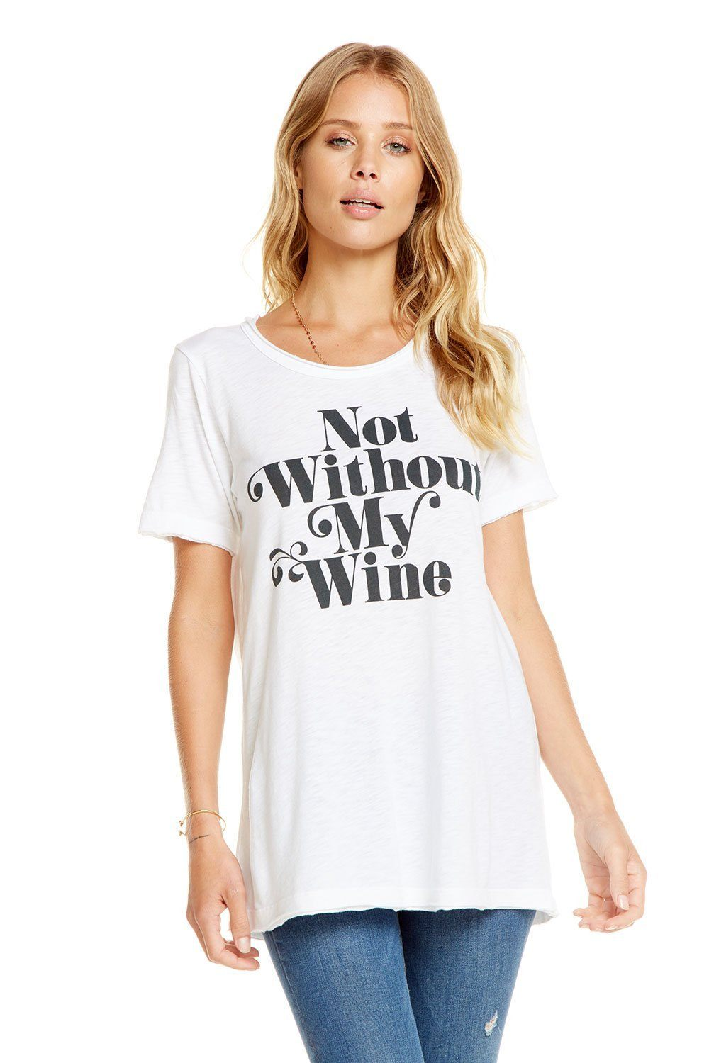 Not Without Wine Tee - Bohemian Mama