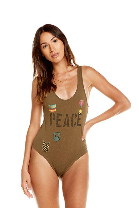 Load image into Gallery viewer, Love Badges Body Suit by Chaser