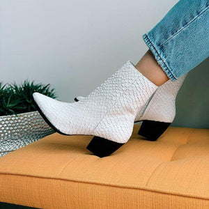 Caty Boot in White by Matisse | Heeled Boots