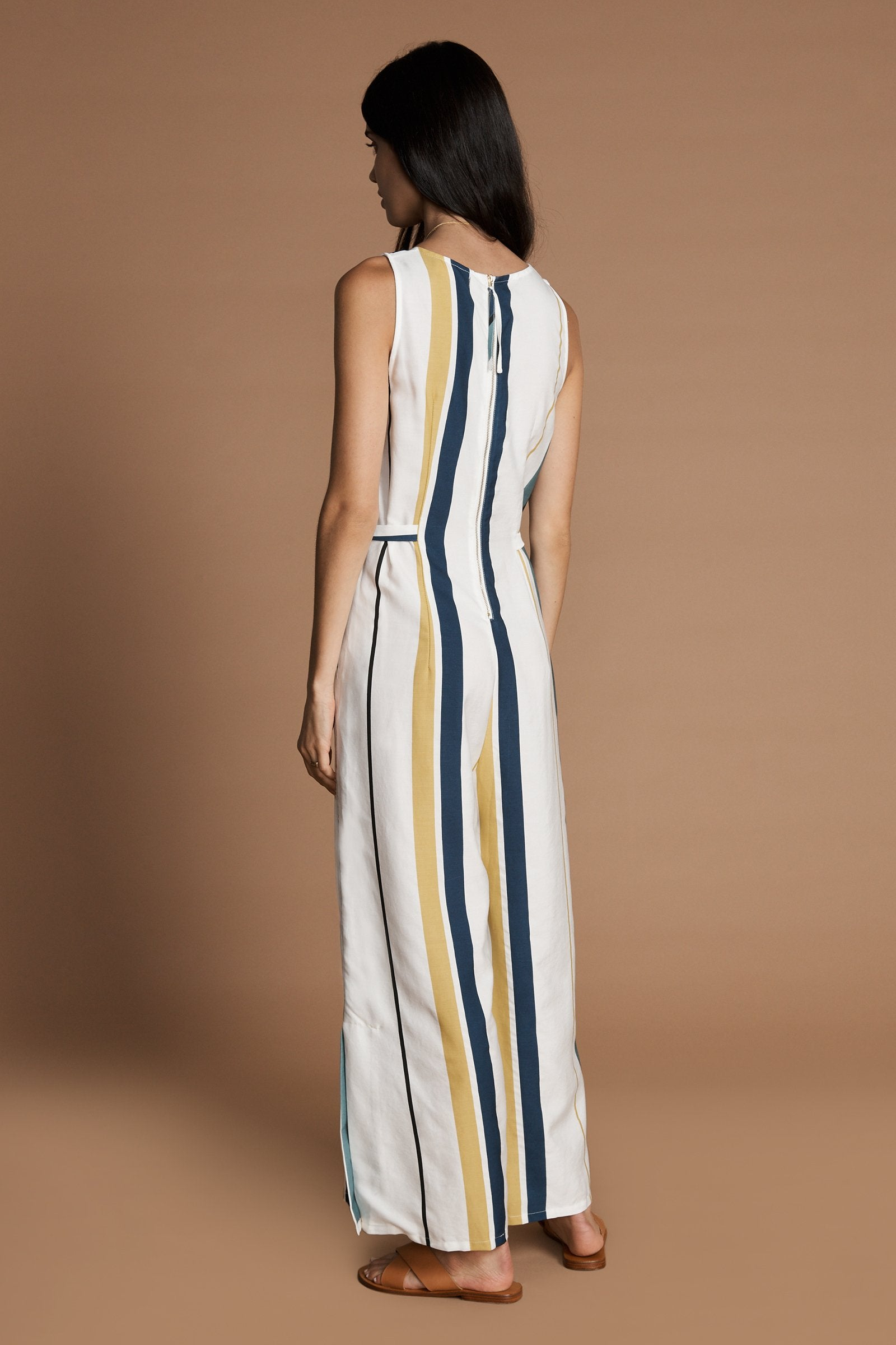 Load image into Gallery viewer, Cecilia Jumpsuit in Margot Stripe by Sancia